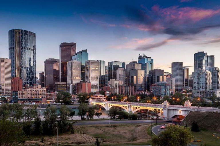 Beautiful View of Calgary Skyline